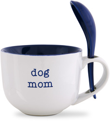 Dog Mom by Mom Love - 16 oz Soup Bowl with Spoon