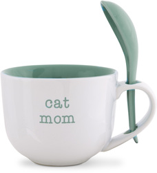 Cat Mom by Mom Love - 16 oz Soup Bowl with Spoon