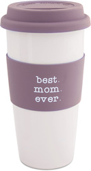 Best Mom by Mom Love - 15 oz Double-Walled Travel Mug