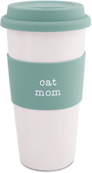 Cat Mom by Mom Love - 15 oz Double-Walled Travel Mug