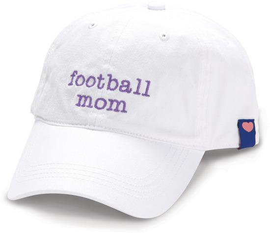 Football Mom, White Adjustable Hat - Mom Love - Pavilion