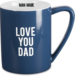 Love You Dad by Man Made - 18 oz Dark Blue Mug