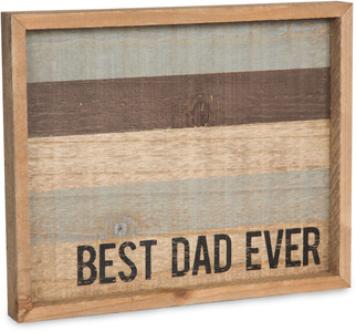 "Best Dad by Man Made - 9"" x 7"" Tray"