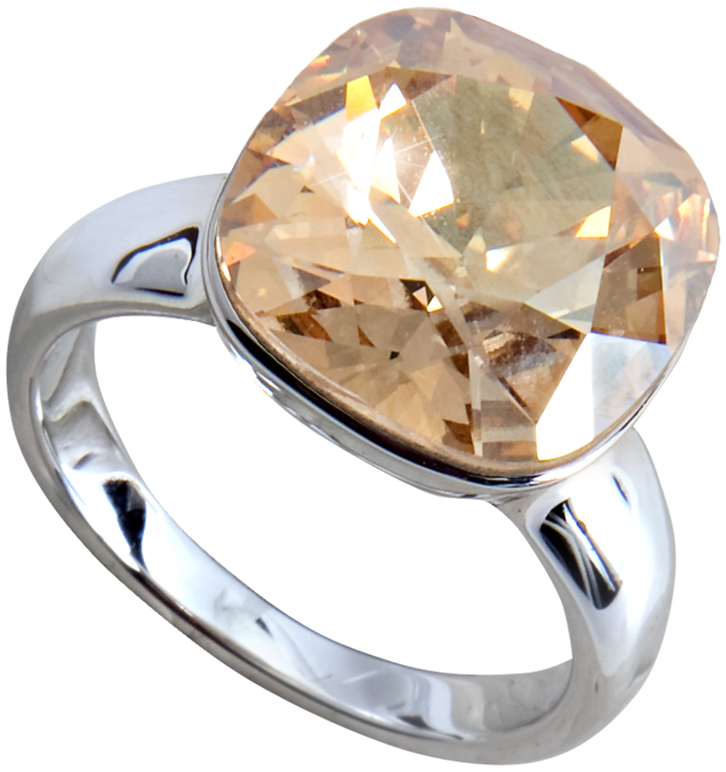 0fa2f853a Pavilion-Size 8 Gold Crystal Ring made from Swarovski Elements ...