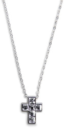 "Nina Crystal by H2Z Made with Swarovski Elements - 16""-18"" Necklace with 0.5"" Swarovski Crystal Cross"
