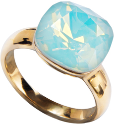 "Isabel Pacific Opal by H2Z Made with Swarovski Elements - Size 7 Ring with 0.5"" Swarovski Crystal"