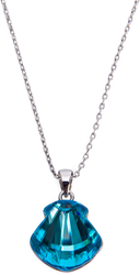 "Seaside Indicolite  by H2Z Made with Swarovski Elements - 17""-18.5"" Necklace with 0.5"" Swarovski Crystal Pendant"