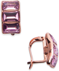 "Maeve Light Amethyst by H2Z Made with Swarovski Elements - 0.625"" Swarovski Crystal Earring"