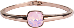 "Isabel Rose Water Opal by H2Z Made with Swarovski Elements - 2.125"" Swarovski Crystal Bangle Bracelet"