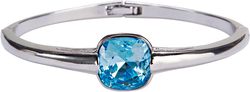 "Isabel Aquamarine by H2Z Made with Swarovski Elements - 2.125"" Swarovski Crystal Bangle Bracelet"