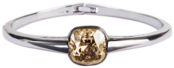 "Isabel Crystal Golden Shadow by H2Z Made with Swarovski Elements - 2.125"" Swarovski Crystal Bangle Bracelet"
