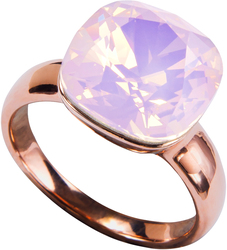 "Isabel Rose Water Opal by H2Z Made with Swarovski Elements - Size 9 Ring with 0.5"" Swarovski Crystal"