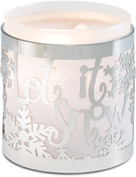 "Let it Snow by Simply Shining - 3.5""x3.75"" Pierced Met Hur"