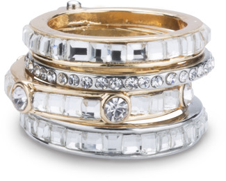 Crystal by H2Z Radiant Rings - Size 6 Ring with 5 Stacked Crystal Layers