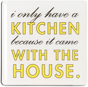 "Kitchen by Sorta-Sarcastic! - 3"" Magnet with Easel Back"