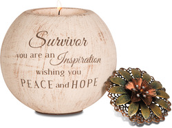 "Survivor by Light Your Way - 4"" Round Tea Light Candle Holder"