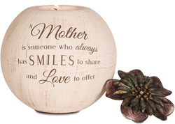 "Mother by Light Your Way - 5"" Round Tea Light Candle Holder"