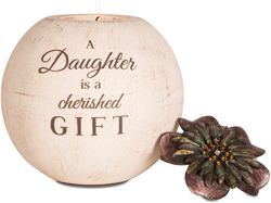 "Daughter by Light Your Way - 5"" Round Tea Light Holder"