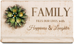 "Family by Light Your Way - 7.5""W x 3.5"" H x Plaque"