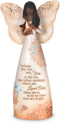 "EBN Stars in the Sky by Light Your Way Memorial - 7.5"" Ebony Angel Figurine"