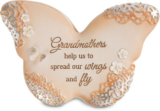 "Grandmother by Light Your Way Every Day - 4"" Butterfly Keepsake Box"