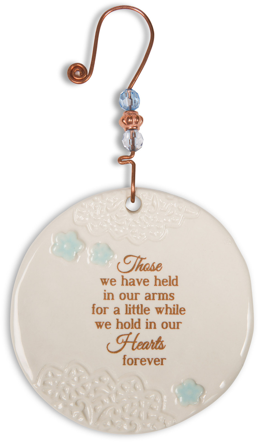 In our hearts forever 3 5 ceramic ornament light your - Ornament tapete weiay ...