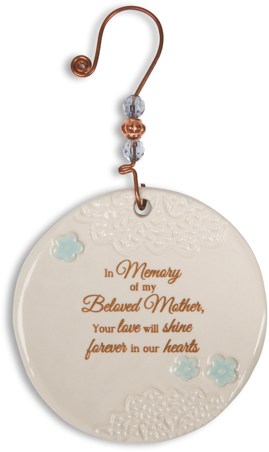 Beloved mother 3 5 ceramic ornament light your way - Ornament tapete weiay ...