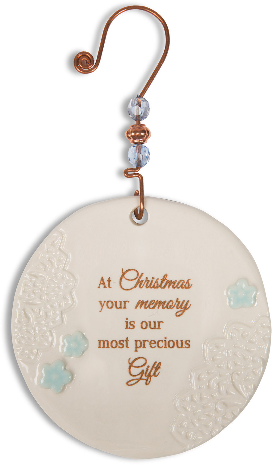 Christmas memories 3 5 ceramic ornament light your way - Ornament tapete weiay ...