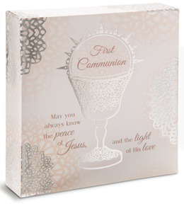 "First Communion by Light Your Way Every Day - 4"" x 4.5"" Plaque"