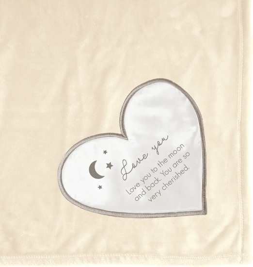 "Love You to the Moon by Comfort Blanket - Love You to the Moon - 50""x60"" Royal Plush Blanket"