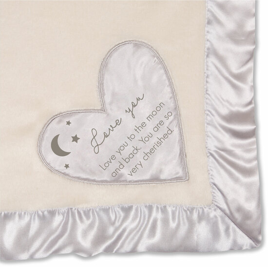 "Love You to the Moon by Comfort Blanket - Love You to the Moon - 30""x40"" Royal Plush Blanket"