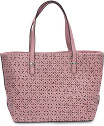 "Alex Tote in Orchid by H2Z Laser Cut Handbags - 11"" x 17"" x 6"" Laser Cut Handbag"