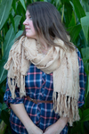 Cream by H2Z Scarves - Model