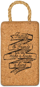 "Family & Friends by Wine All The Time - 7"" Cork Trivet"