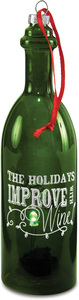 "Holidays by Wine All The Time - 7"" LED Lit Glass Ornament"