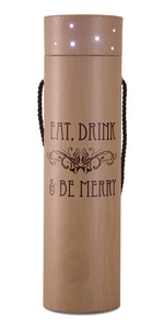 "Eat Drink & Be Merry by Wine All The Time - 3.5""x14"" Blinking Wine Box"