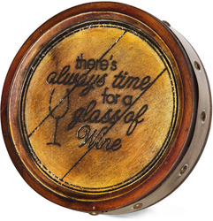"Always Time for Wine by Wine All The Time - 8"" Plaque"