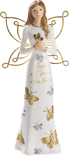 "Always and Forever by Butterfly Whispers - Always and Forever - 7.5"" Angel Holding a Butterfly"