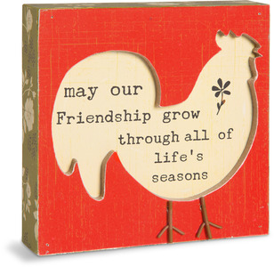 "Friendship by Live Simply by Amylee - 4.5"" x 4.5"" Plaque"