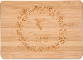 "Mom by Live Simply by Amylee - 13"" x 9"" Bamboo Cutting Board"