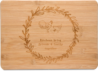 "Friends & Family by Live Simply by Amylee - 13"" x 9"" Bamboo Cutting Board"