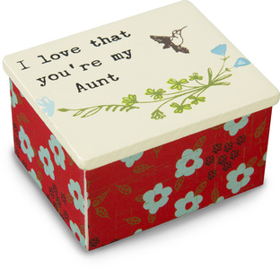 "Aunt by Live Simply by Amylee - 2"" x 2.25"" MDF Keepsake Box"