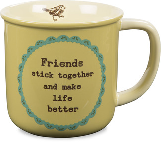 Friend by Live Simply by Amylee - 14 oz Ceramic Mug