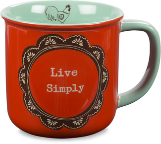 Live Simply by Live Simply by Amylee - 14 oz Ceramic Mug