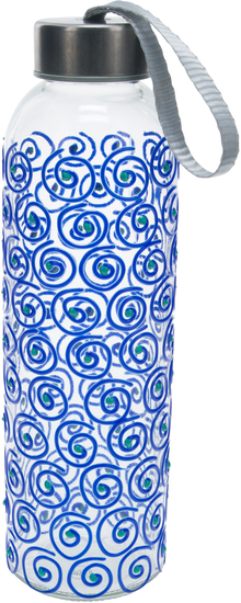 Blue Swirl by Sunny by Sue - Blue Swirl - 16.5 oz Hand Decorated Water Bottle