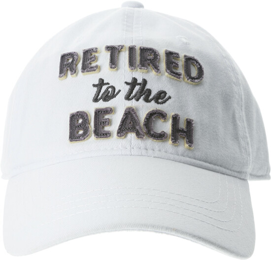 Beach by Retired Life - Beach - White Adjustable Hat