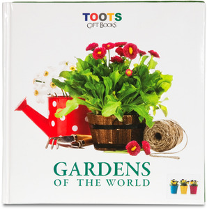 "Gardens of the World by Toots Gift Books - 9.5"" Gift Book with Garden Bag"