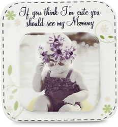 "Mom by Candidly...LOL - 2.75"" x 2.75"" Magnet"