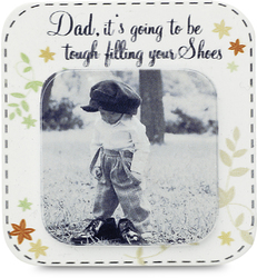 "Dad by Candidly...LOL - 2.75"" x 2.75"" Magnet"