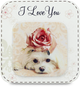 "I Love You by Candidly...LOL - 2.75"" x 2.75"" Magnet"